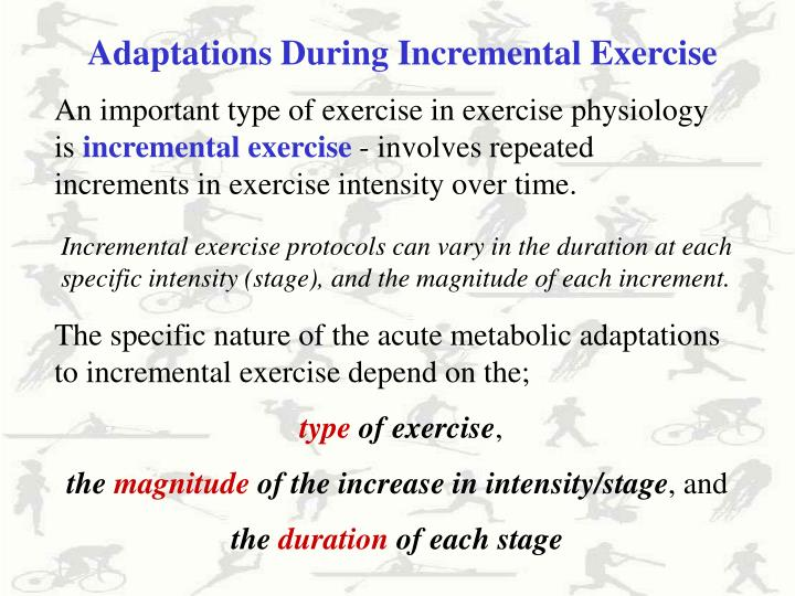 Adaptations During Incremental Exercise