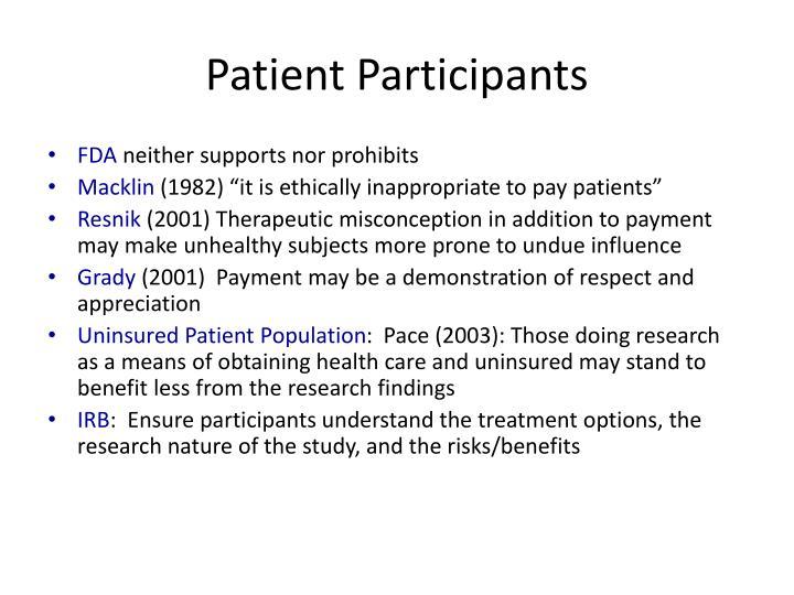 Patient Participants