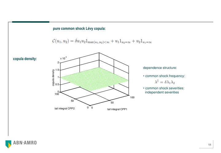 pure common shock Lévy copula: