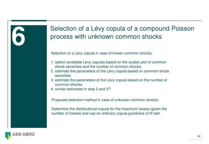 Selection of a Lévy copula of a compound Poisson