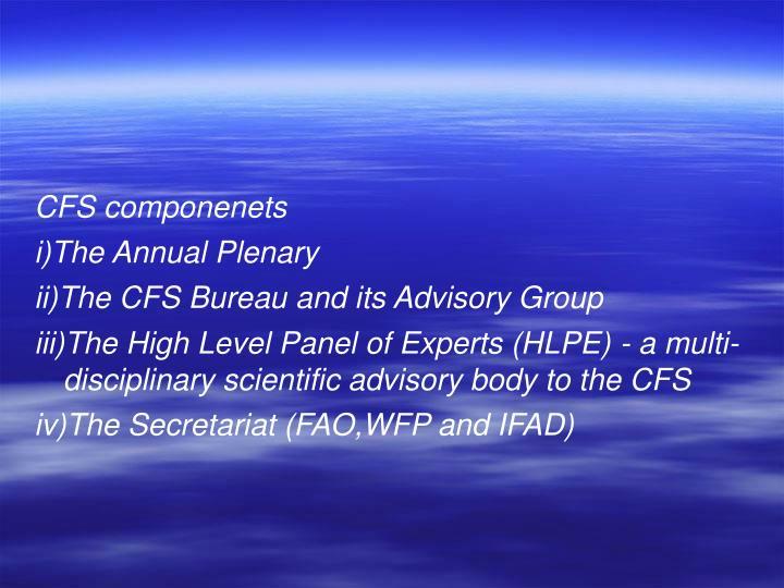 CFS componenets