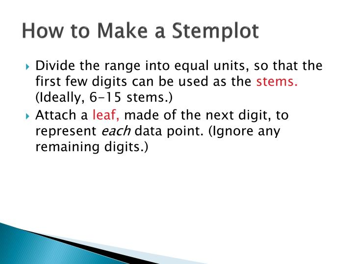How to Make a Stemplot