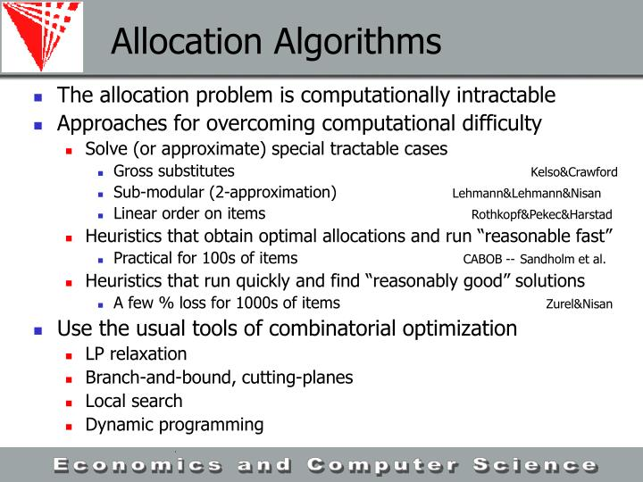 Allocation Algorithms