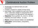 combinatorial auction problem