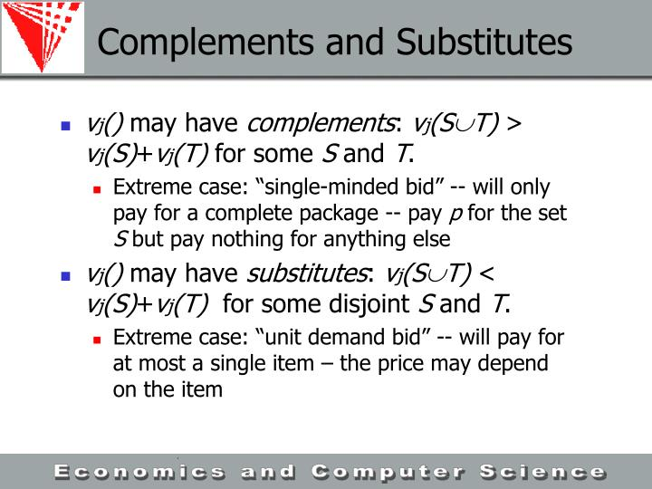 Complements and Substitutes