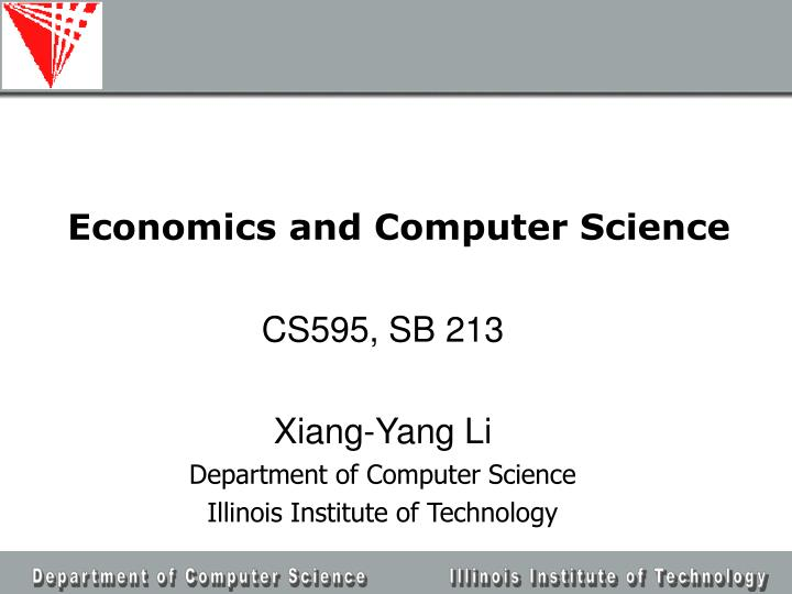 Economics and computer science