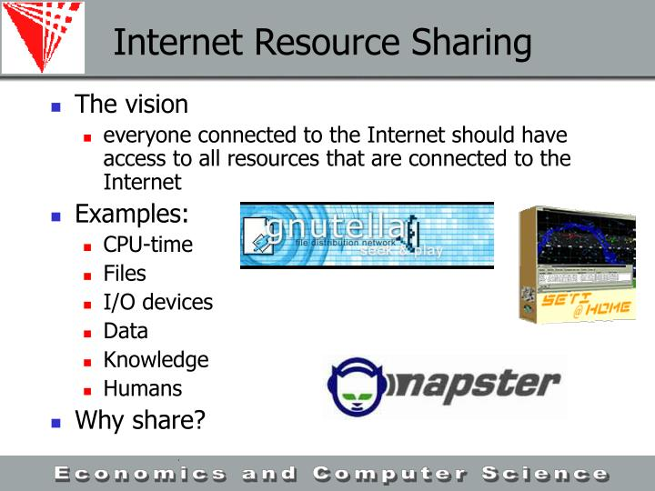Internet Resource Sharing