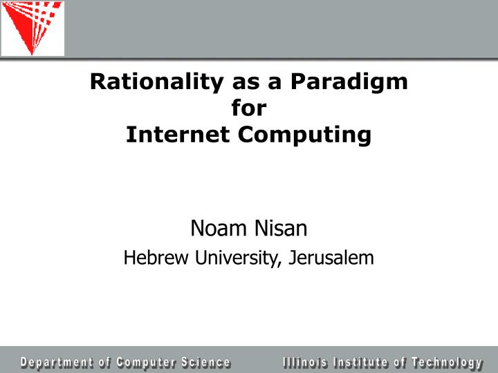 Rationality as a Paradigm