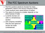 the fcc spectrum auctions