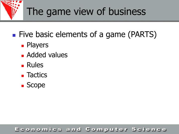 The game view of business