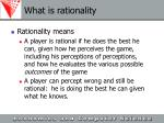 what is rationality