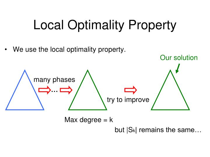 Local Optimality Property