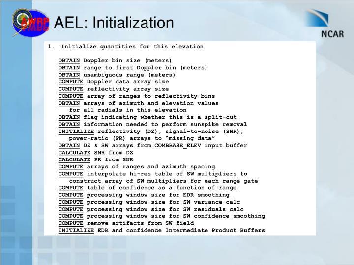 AEL: Initialization