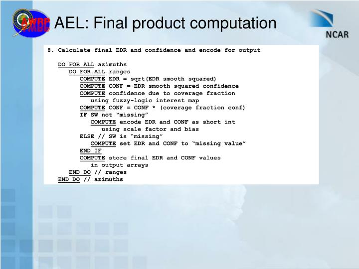 AEL: Final product computation