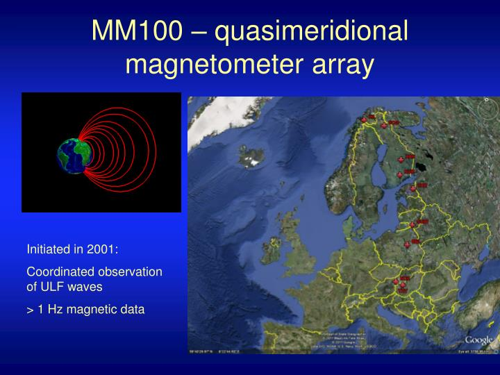 MM100 – quasimeridional magnetometer array