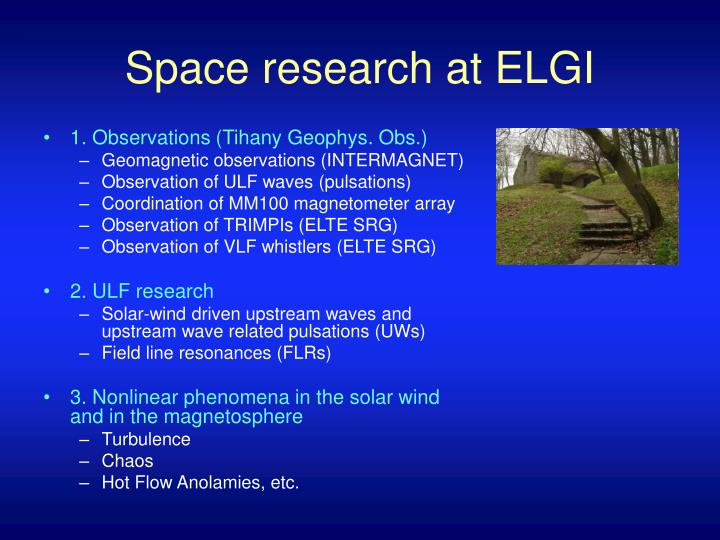 Space research at elgi