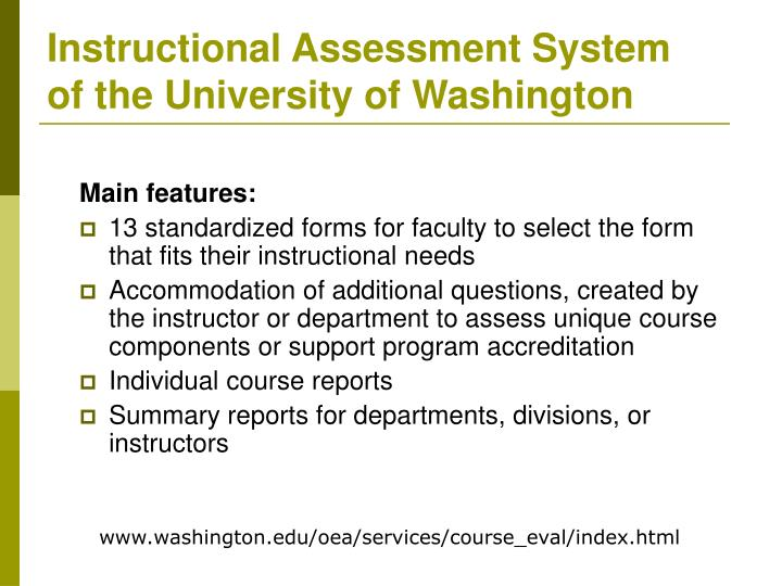 Instructional Assessment System
