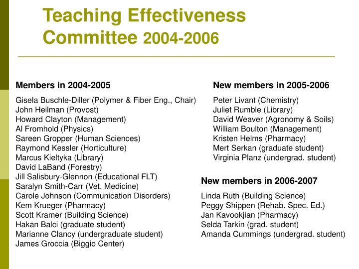 Teaching Effectiveness Committee