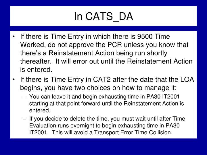In CATS_DA