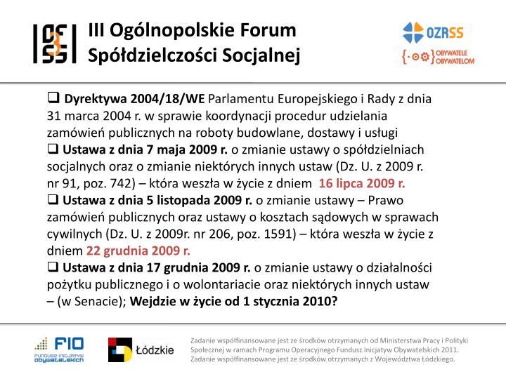III Ogólnopolskie Forum