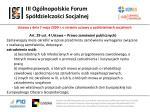 iii og lnopolskie forum sp dzielczo ci socjalnej17