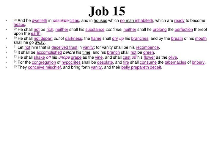 Job 15