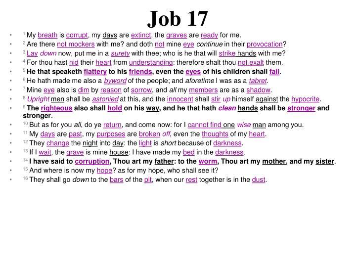 Job 17