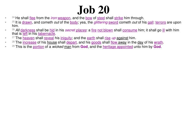 Job 20