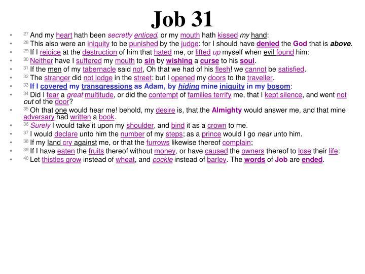 Job 31