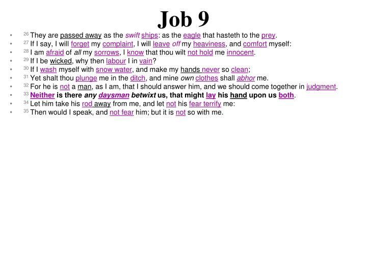 Job 9