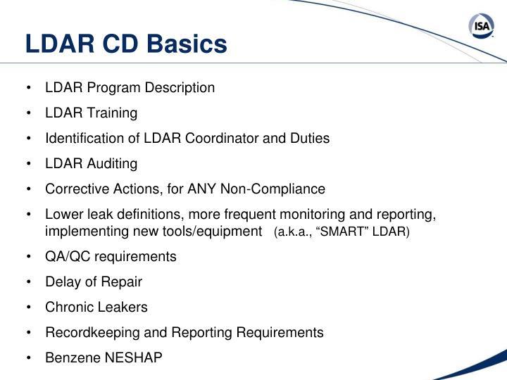 LDAR CD Basics
