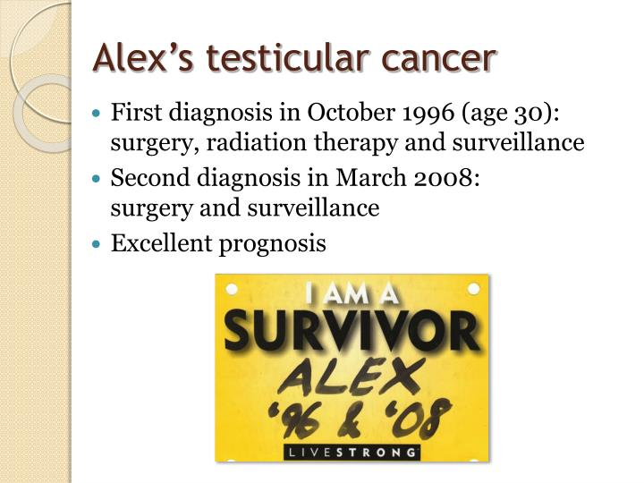Alex's testicular cancer