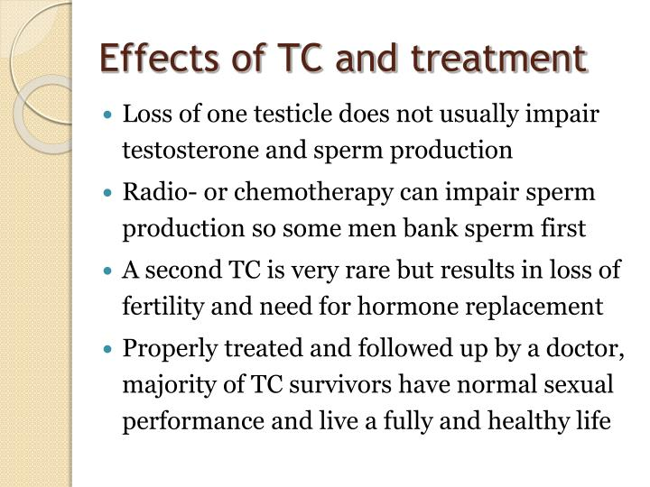 Effects of TC and treatment