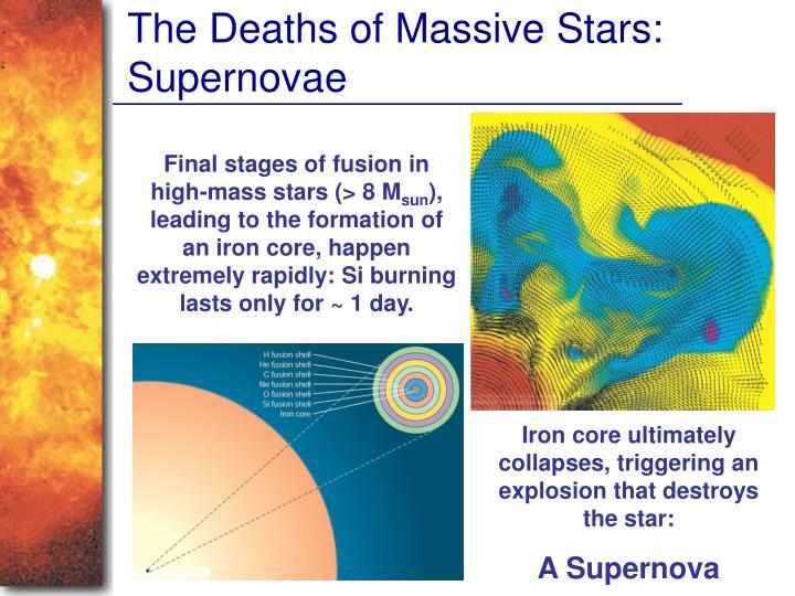 The Deaths of Massive Stars: Supernovae