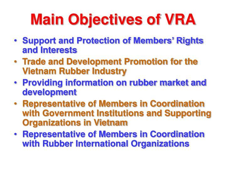 Main Objectives of VRA