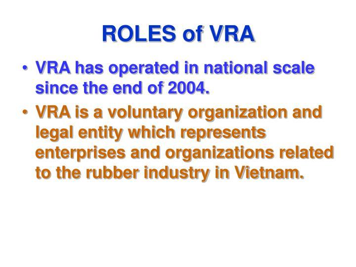 ROLES of VRA
