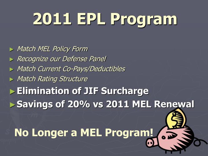 2011 EPL Program
