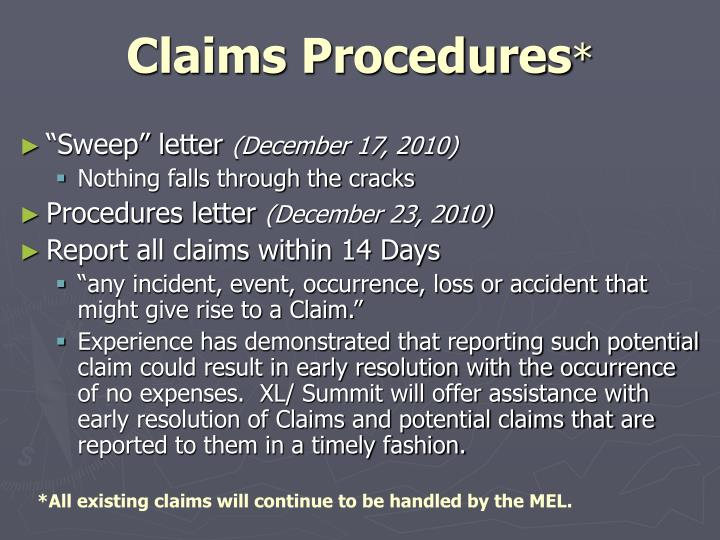 Claims Procedures