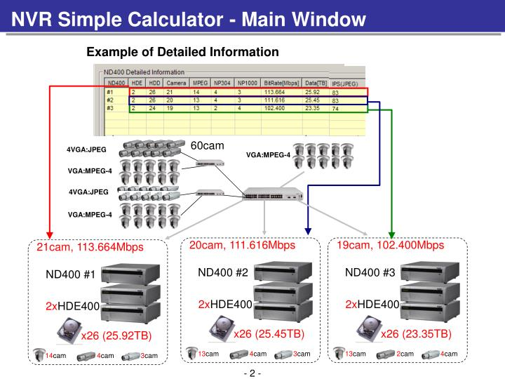 NVR Simple Calculator - Main Window