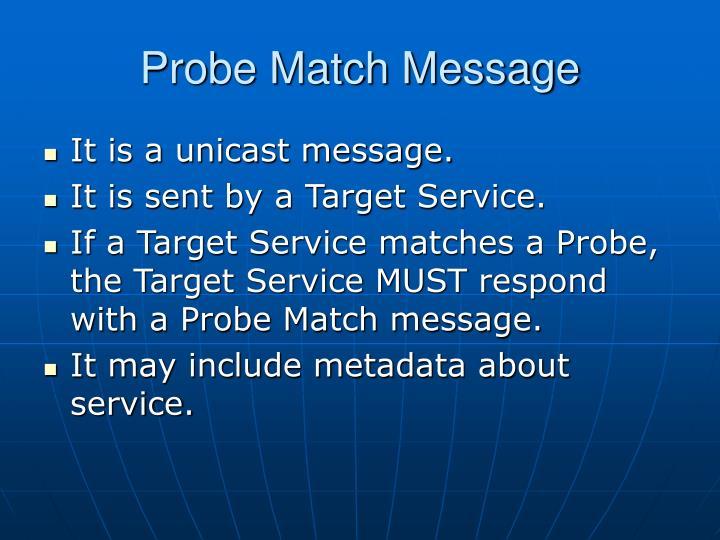 Probe Match Message