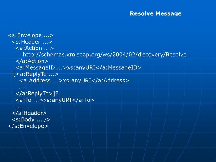 Resolve Message