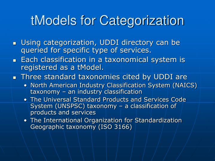 tModels for Categorization