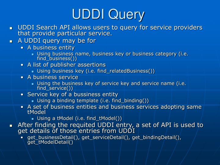 UDDI Query