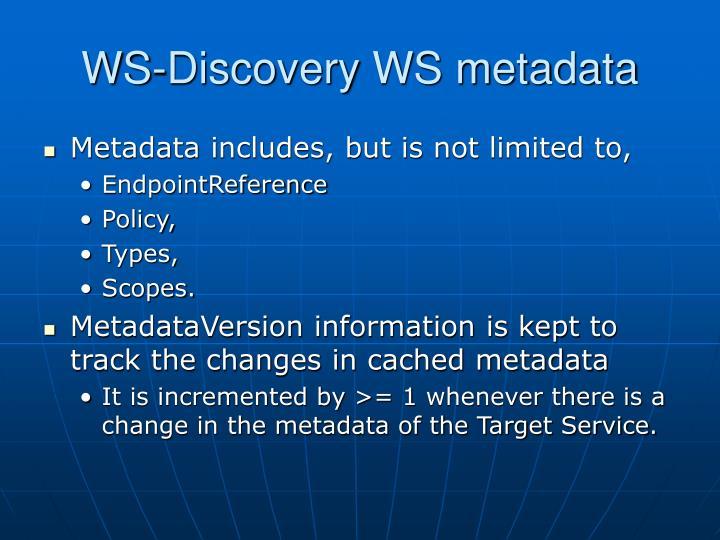 WS-Discovery WS metadata