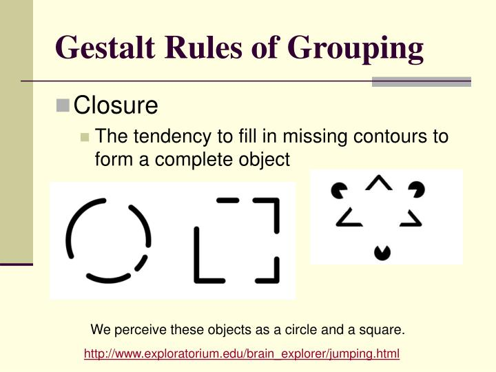Gestalt Rules of Grouping