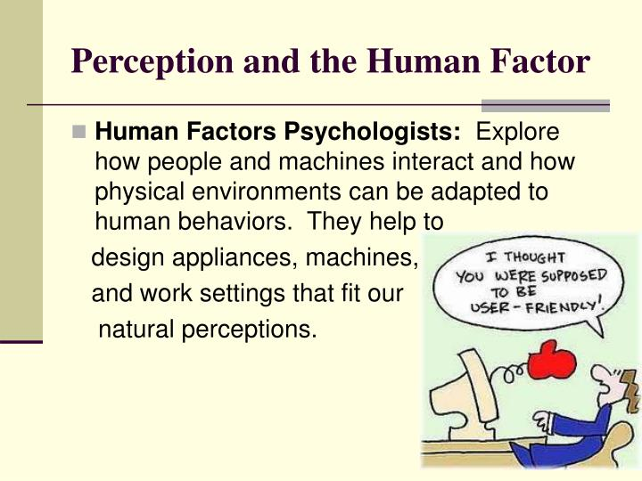 Perception and the Human Factor