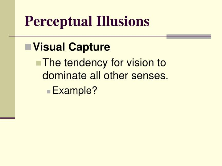 Perceptual Illusions