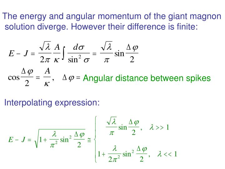 The energy and angular momentum of the giant magnon