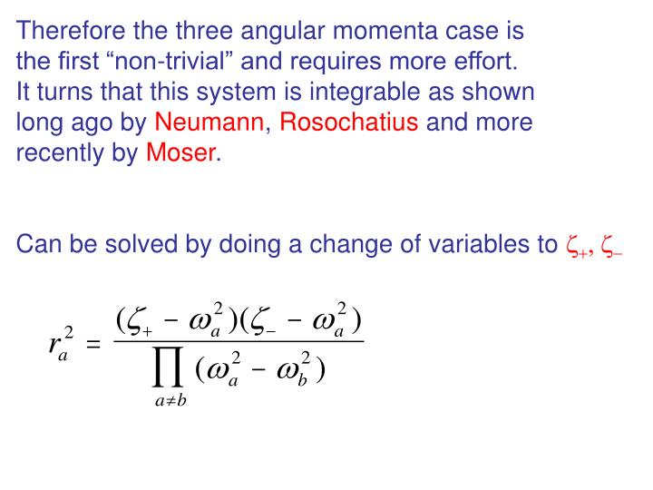 Therefore the three angular momenta case is