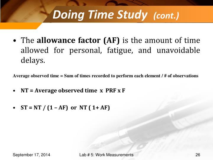 Doing Time Study